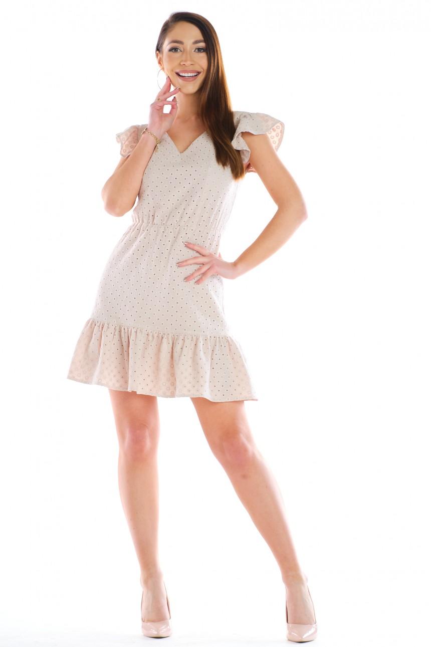 Sukienka TOLA beżowa rozm. 36-50