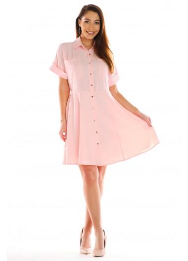 Sukienka TOLA brzoskwiniowa rozm. 36-50