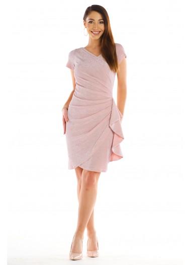 Sukienka BLANKA pudrowa rozm. 38-56