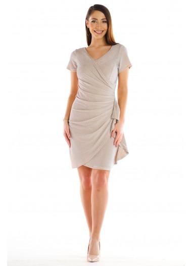 Sukienka BLANKA beżowa rozm. 38-54