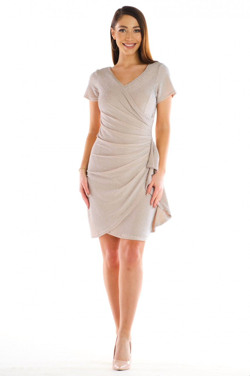 Sukienka BLANKA beżowa rozm. 38-56
