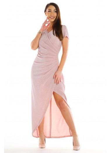 Sukienka OLIWIA pudrowa rozm. 38-50