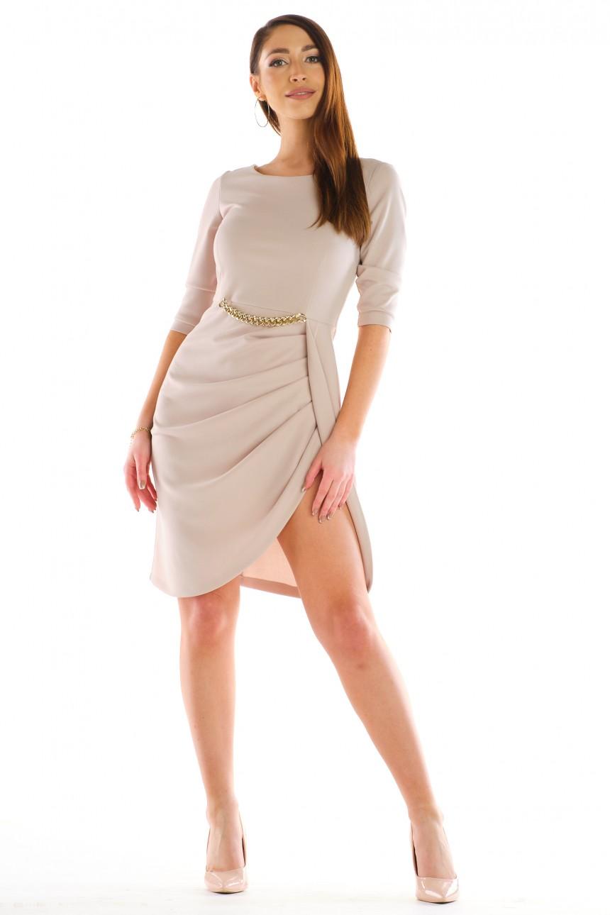 Sukienka LENA beżowa rozm. 36-50