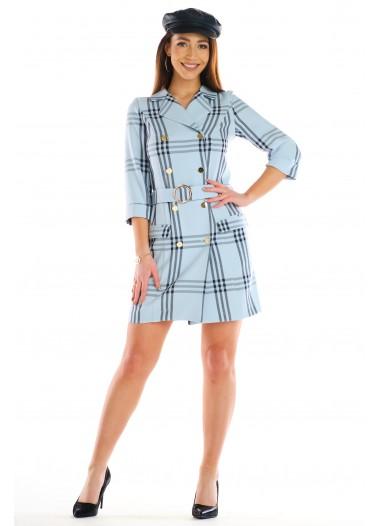 Sukienka MELANIA błękitna rozm. 36-50