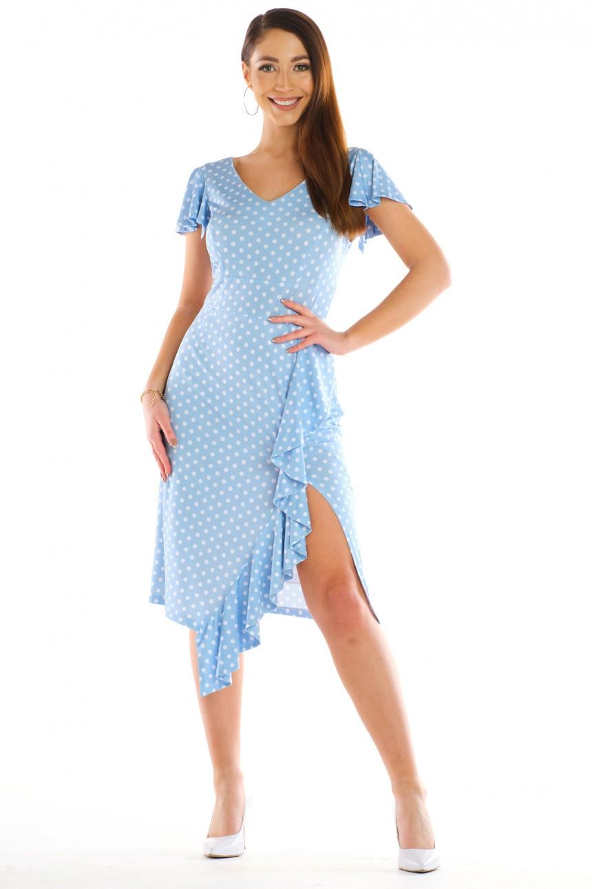 Sukienka BELLA błękitna rozm. 38-54
