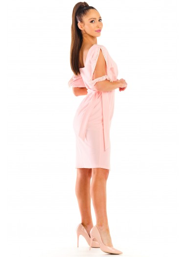 Sukienka NELA puder rozm. 38-52