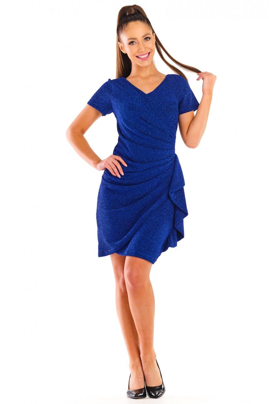 Sukienka BLANKA chabrowa rozm. 38-56
