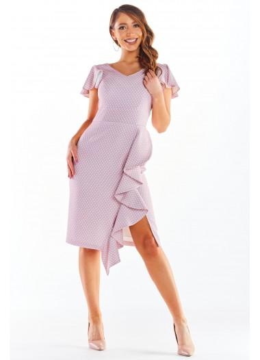 Sukienka BELLA pudrowa rozm. 38-50