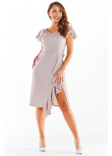 Sukienka BELLA beż-ecru rozm. 38-50